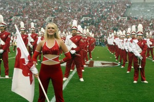 Members of the Million Dollar Band perform at a game in Bryant Denny Stadium.